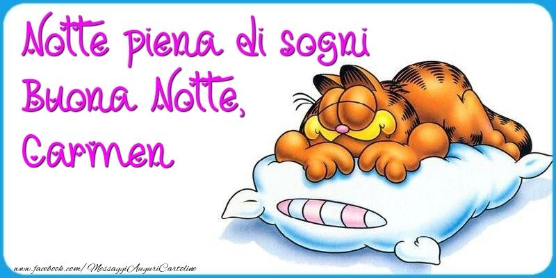 Cartoline di buonanotte - Notte piena di sogni Buona Notte, Carmen