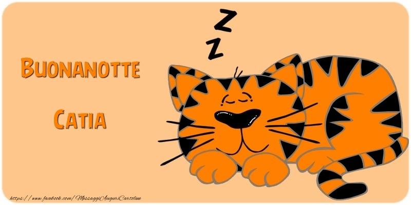 Cartoline di buonanotte - Buonanotte Catia