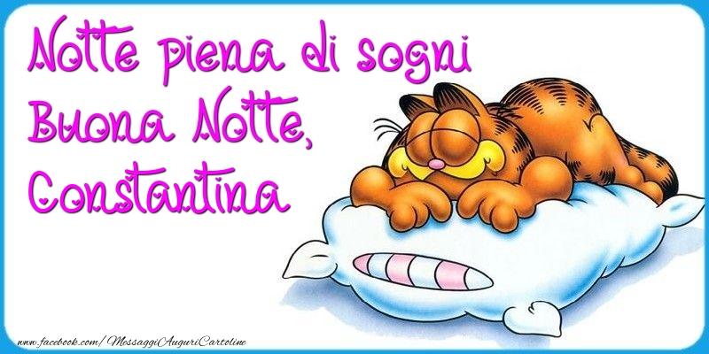 Cartoline di buonanotte - Notte piena di sogni Buona Notte, Constantina