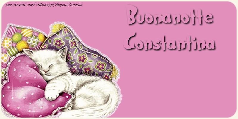 Cartoline di buonanotte - Buonanotte Constantina