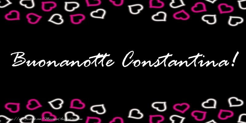 Cartoline di buonanotte - Buonanotte Constantina!