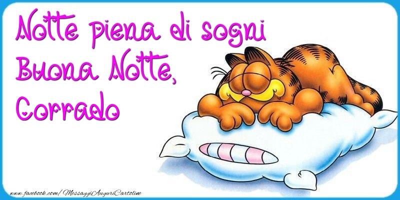 Cartoline di buonanotte - Notte piena di sogni Buona Notte, Corrado