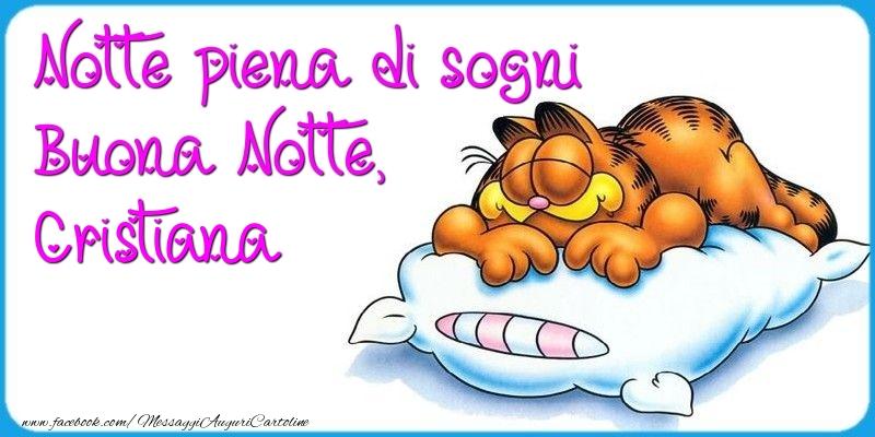 Cartoline di buonanotte - Notte piena di sogni Buona Notte, Cristiana