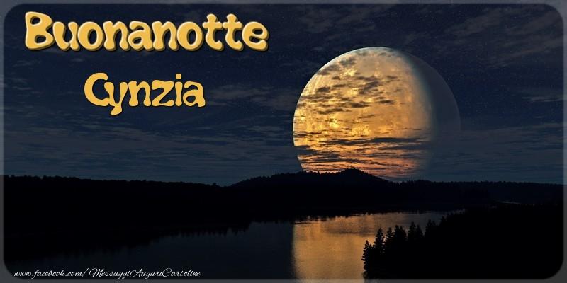 Cartoline di buonanotte - Buonanotte Cynzia