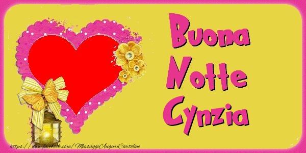 Cartoline di buonanotte - Buona Notte Cynzia
