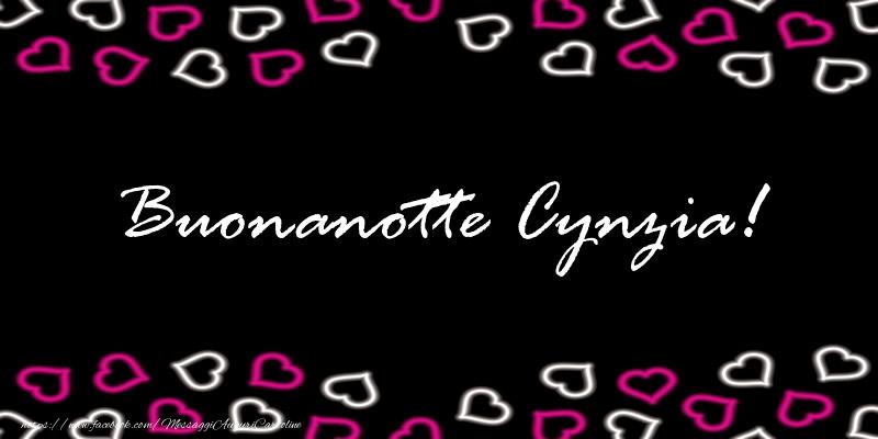 Cartoline di buonanotte - Buonanotte Cynzia!