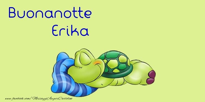 Cartoline di buonanotte - Buonanotte Erika