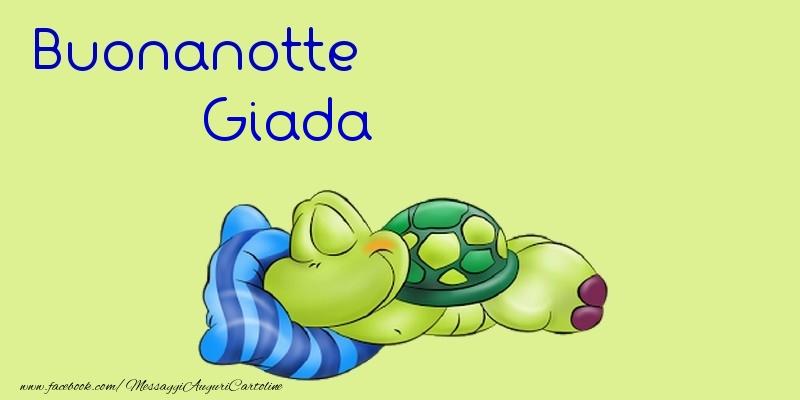 Cartoline di buonanotte - Buonanotte Giada