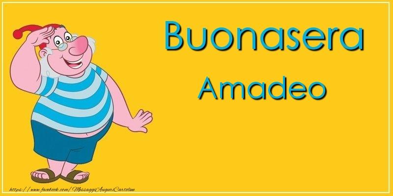 Cartoline di buonasera - Buonasera Amadeo