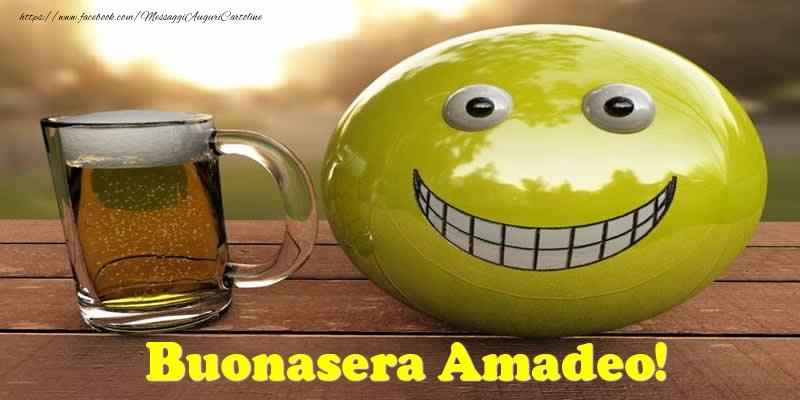 Cartoline di buonasera - Buonasera Amadeo!