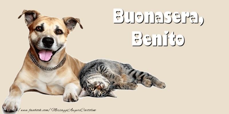 Cartoline di buonasera - Buonasera, Benito