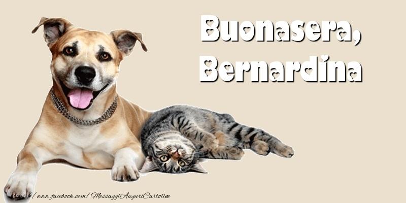 Cartoline di buonasera - Buonasera, Bernardina