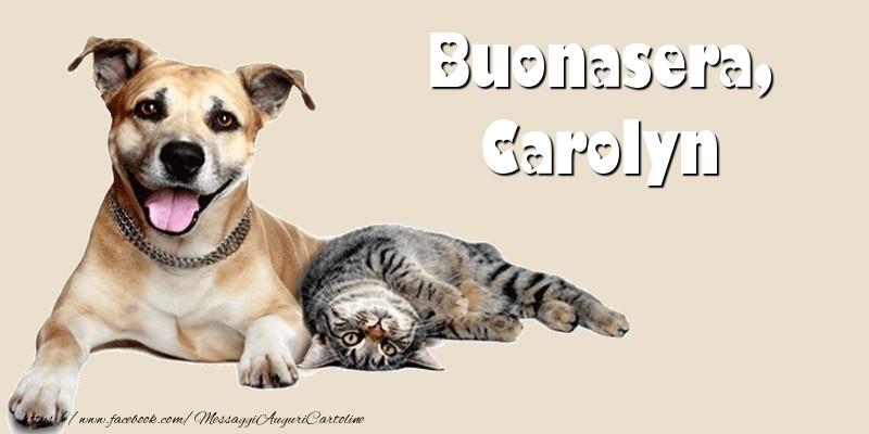 Cartoline di buonasera - Buonasera, Carolyn
