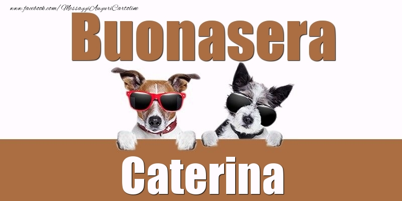 Cartoline di buonasera - Buonasera Caterina