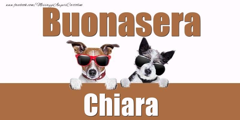 Cartoline di buonasera - Buonasera Chiara