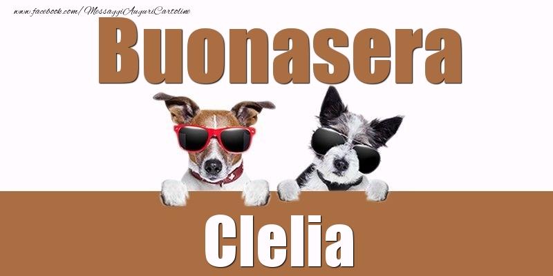 Cartoline di buonasera - Buonasera Clelia
