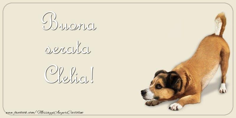 Cartoline di buonasera - Buona serata Clelia