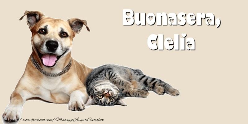 Cartoline di buonasera - Buonasera, Clelia