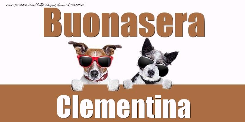 Cartoline di buonasera - Buonasera Clementina