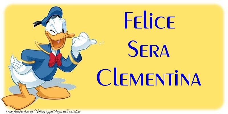 Cartoline di buonasera - Felice Sera Clementina