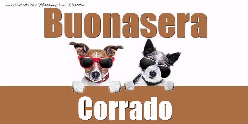 Cartoline di buonasera - Buonasera Corrado