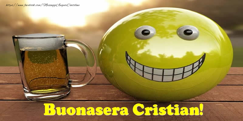 Cartoline di buonasera - Buonasera Cristian!