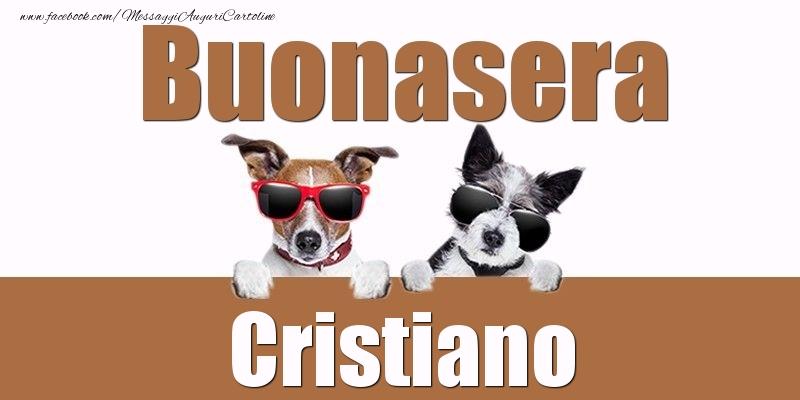 Cartoline di buonasera - Buonasera Cristiano