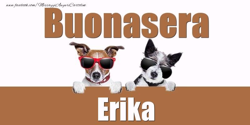 Cartoline di buonasera - Buonasera Erika