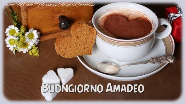 Cartoline di buongiorno - Buongiorno Amadeo
