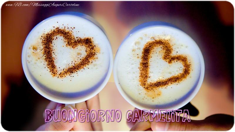 Cartoline di buongiorno - Buongiorno Carmelita