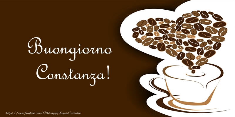 Cartoline di buongiorno - Buongiorno Constanza!