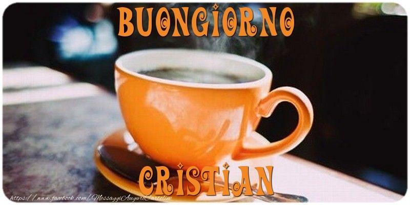 Cartoline di buongiorno - Buongiorno Cristian