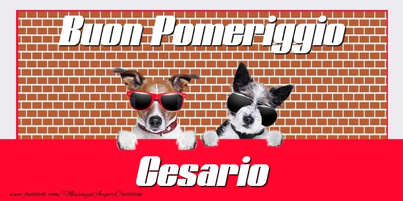 Cartoline di buon pomeriggio - Buon Pomeriggio Cesario