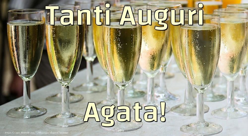 Cartoline di compleanno - Tanti Auguri Agata!