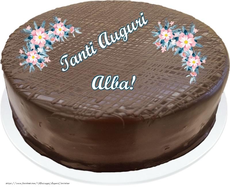 Cartoline di compleanno - Tanti Auguri Alba! - Torta al cioccolato