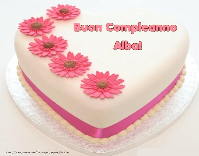 Cartoline di compleanno - Buon Compleanno Alba! - Torta