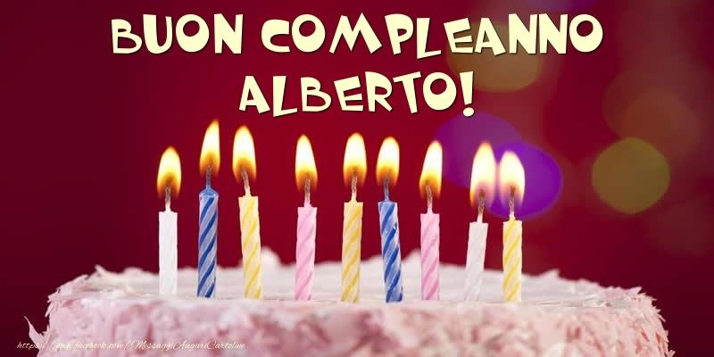 Cartoline di compleanno - Torta - Buon compleanno, Alberto!
