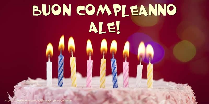 Cartoline di compleanno - Torta - Buon compleanno, Ale!