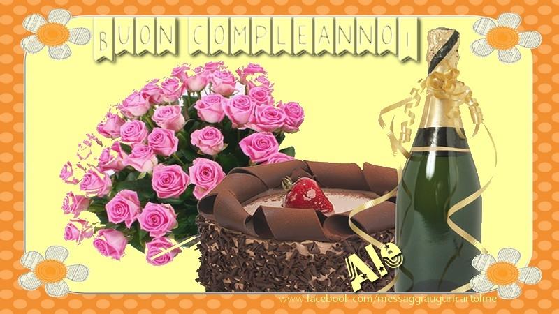 Cartoline di compleanno - Buon compleanno Ale