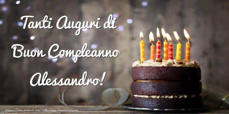 Cartoline di compleanno - Tanti Auguri di Buon Compleanno Alessandro!