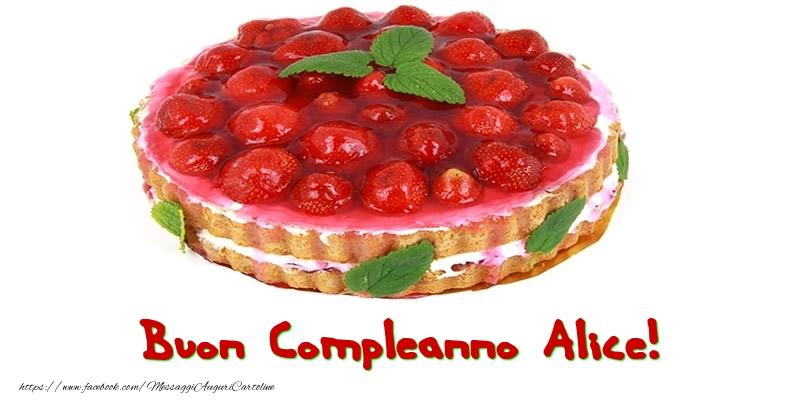 Cartoline di compleanno - Buon Compleanno Alice!