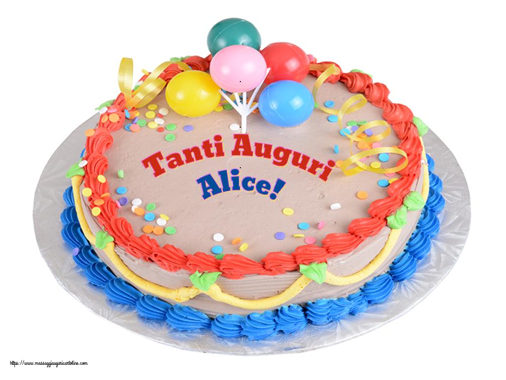 Cartoline di compleanno - Tanti Auguri Alice!