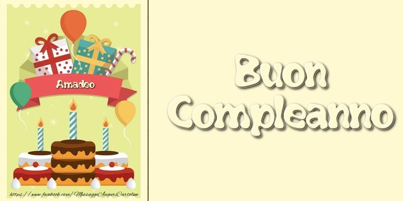 Cartoline di compleanno - Buon Compleanno Amadeo
