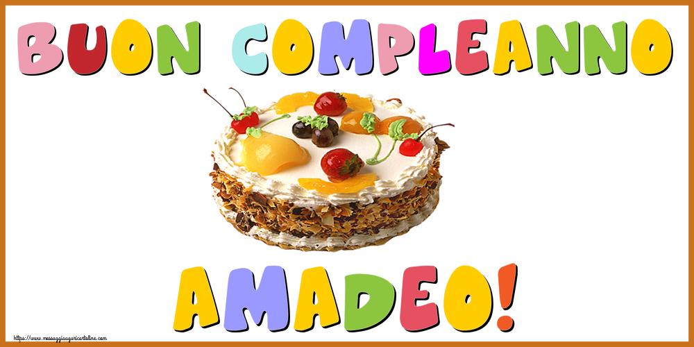 Cartoline di compleanno - Buon Compleanno Amadeo!