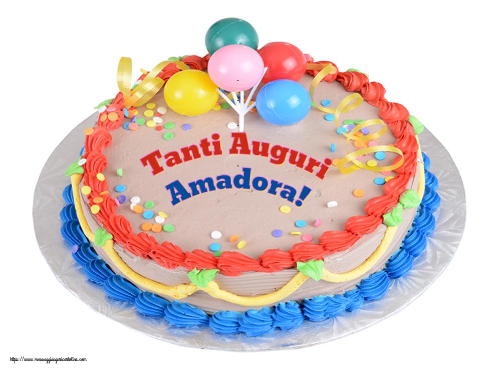 Cartoline di compleanno - Tanti Auguri Amadora!