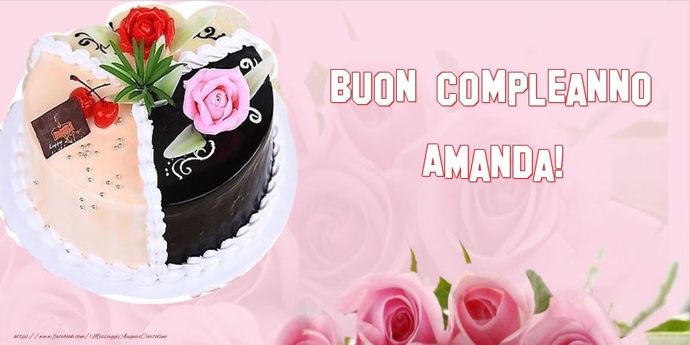 Cartoline di compleanno - Buon Compleanno Amanda!