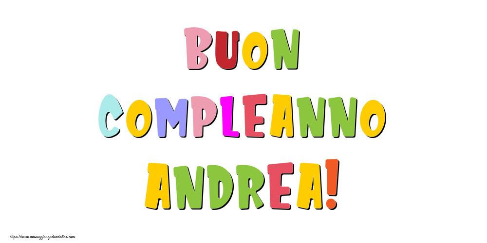 Cartoline di compleanno - Buon compleanno Andrea!