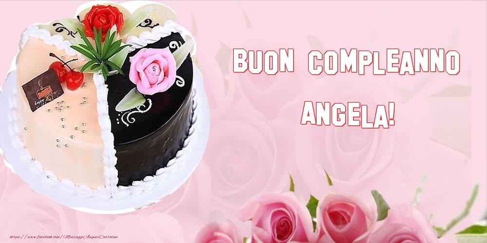 Cartoline di compleanno - Buon Compleanno Angela!