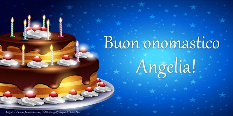 Cartoline di compleanno - Buon onomastico Angelia!