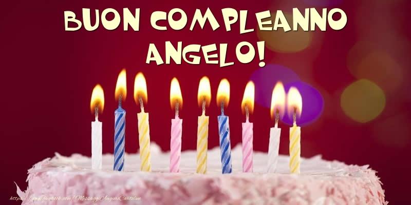 Cartoline di compleanno - Torta - Buon compleanno, Angelo!